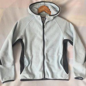 Columbia Full Zip Hooded Fleece Jacket Wmn S /Blue
